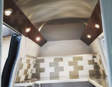 Vintage VW Catering Conversion Interior